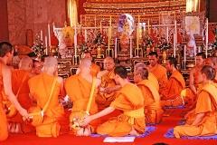 Ordination of three monks